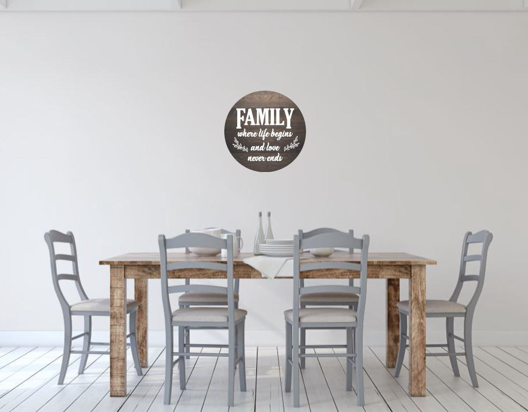 Family, where life begins and love never ends - Creative Art Bar