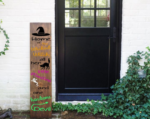 Porch Sign Wicked Witch