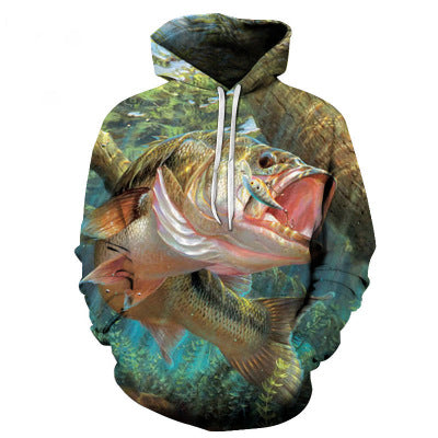 3D fishing Sweatshirt