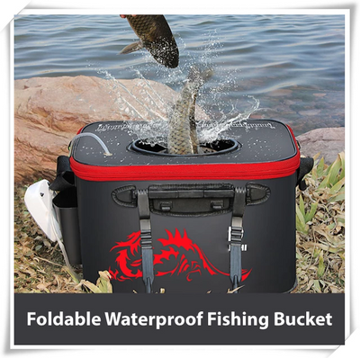 Foldable Waterproof Fishing Bucket - A second to put the fish