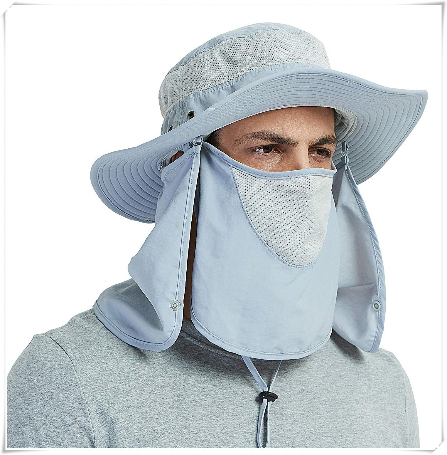 Outdoor sun protection fishing cap