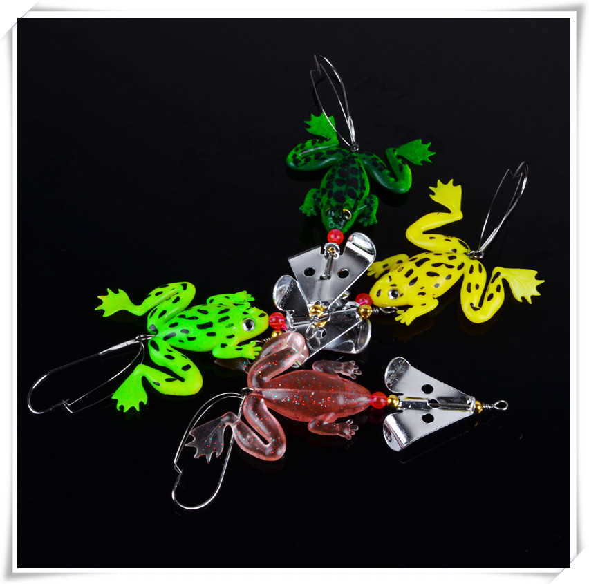New Fishing Frog Lure Set 4 PCS/SET Second Half Price
