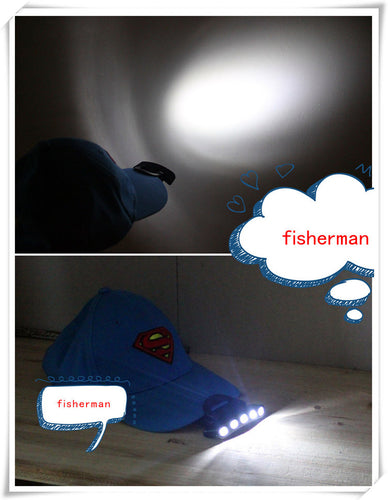 Fishing,Bike Bicycle 5 LED Cap Light Hat Light outdoor
