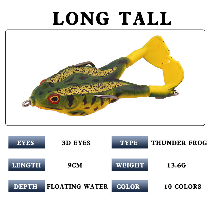 Double Propellers Frogs Soft Bait Soft Silicone Fishing NICE Lures U5Y3