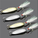 Gold/Sliver Sequins with Feather Fishing Lures - Born To Fish
