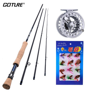 Goture Fly Fishing Reel Rod Combo Kit - Born To Fish