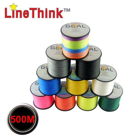 LineThink Multifilament 500M 100% PE Braided Fishing Line 6LB to 120LB - Born To Fish
