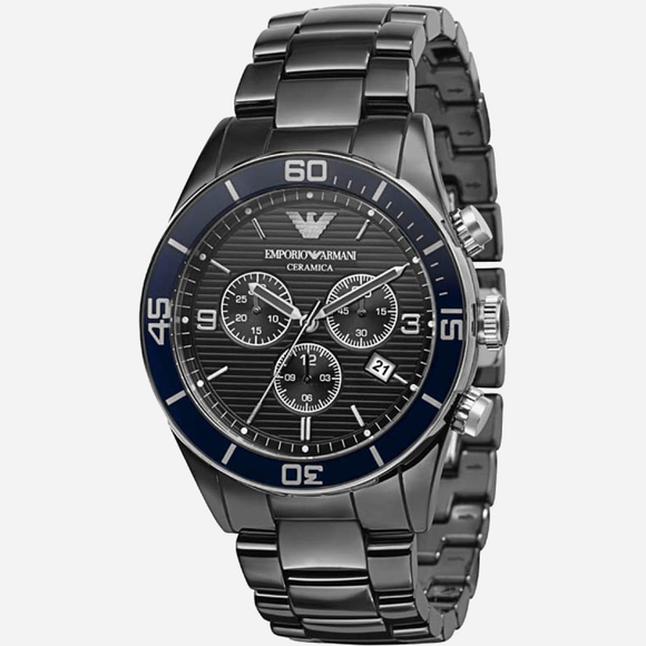Black-Ceramic-Armani-Watch-Digital