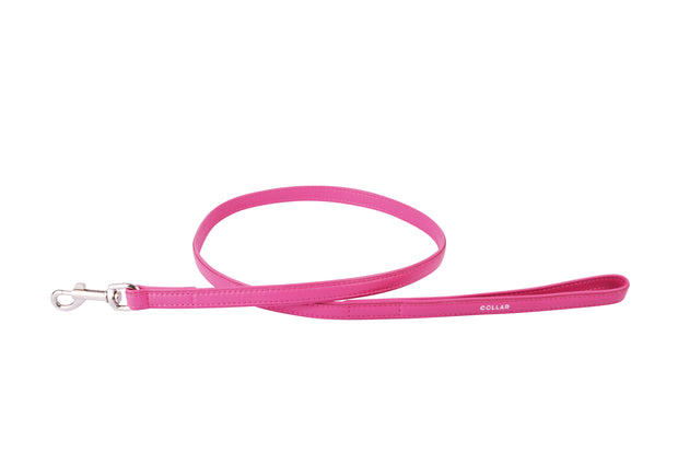 Collar Glamour Leather Flat Lead