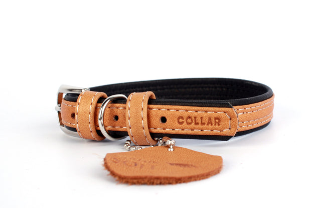Collar Soft, Black or Brown Top Leather Collar