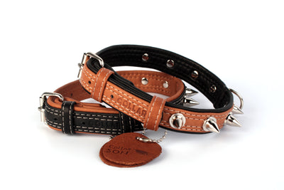 Collar Soft, Spiked Leather Collar