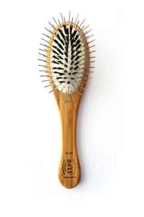 Multi-Section Professional Brush, Purse Size, Oval- 100% Bamboo Wood Handle