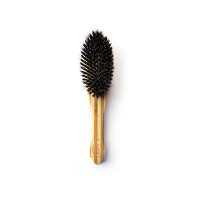 Bass Firm Boar Bristle Brush, Medium, Oval - Bamboo Wood Handle