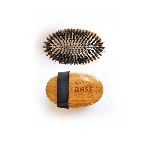 Bass 100% Boar Palm Pad Bristle Brush - 100% Bamboo Wood Handle