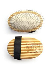 Bass Standard Pin Palm Pad Brush - 100% Bamboo Brush Pad