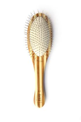Bass Pin Brush - Medium, Oval - 100% Bamboo Wood Handle