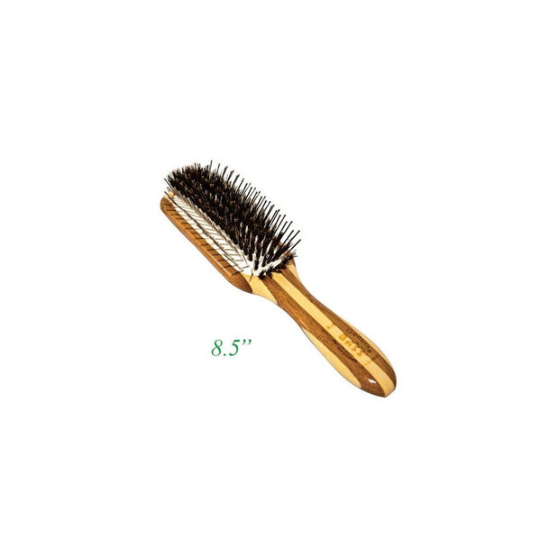 Bass Multi-Sectioned Rectangle Brush - 100% Bamboo Wood Handle