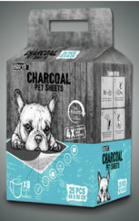 Absorb Plus Charcoal Pet Sheets - Large (25pcs)