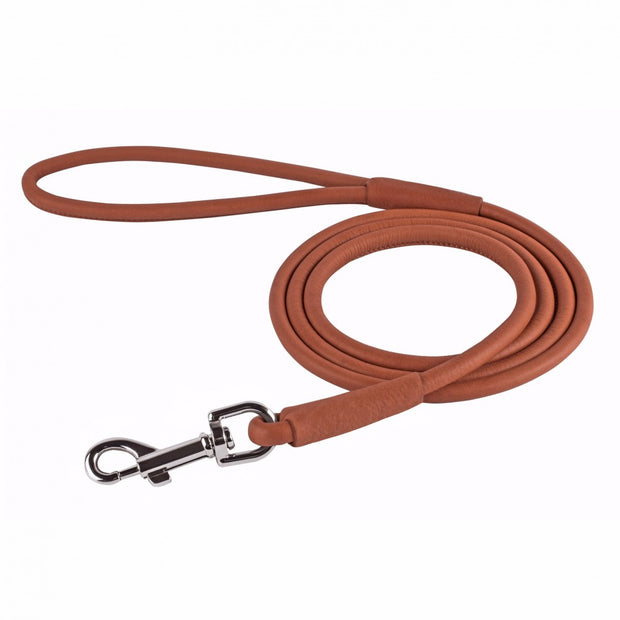 Collar Soft Round Leather Lead