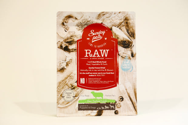 Sunday Pets Freeze Dried Raw - Dogs and Puppies