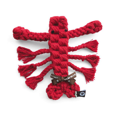 Leslie the Lobster, Small, Braided Rope Toy