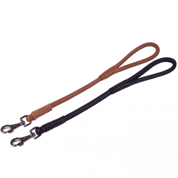 Collar Soft Round Leather Traffic Lead