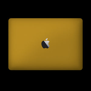 Matte Yellow / Top & Bottom & Trackpad 7 Layer Skinz Custom skin wraps