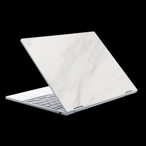 White Marble / Top & Trackpad 7 Layer Skinz Custom skin wraps