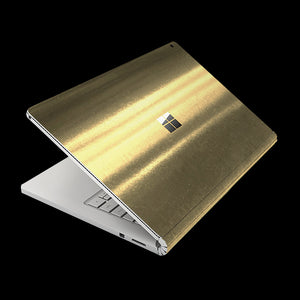 Brushed Gold / Top & Bottom & Trackpad 7 Layer Skinz Custom skin wraps