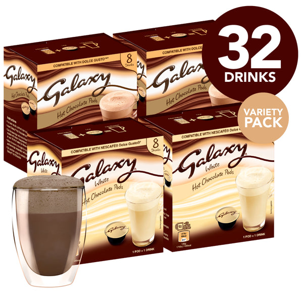 Galaxy White & Normal Hot Chocolate Taster
