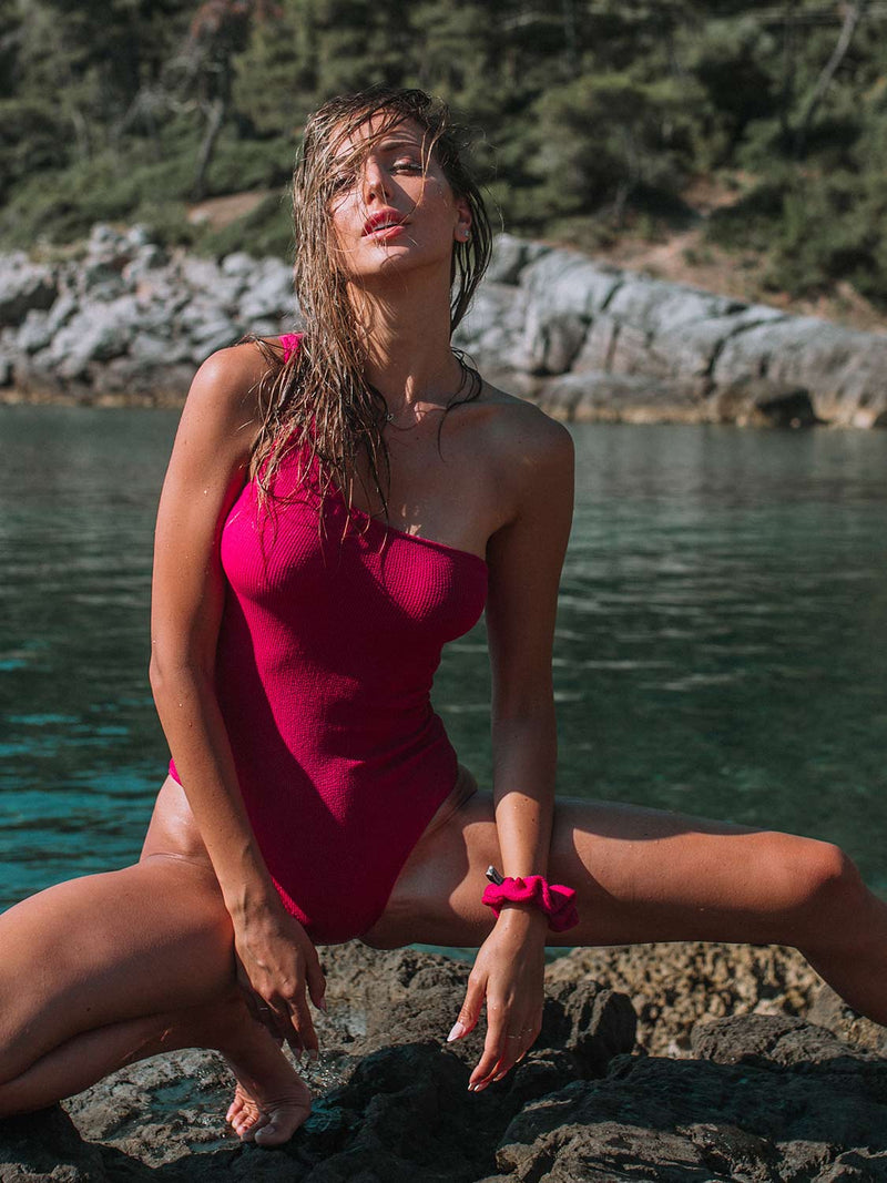 One Piece Swimsuit Molly In Raspberry Color
