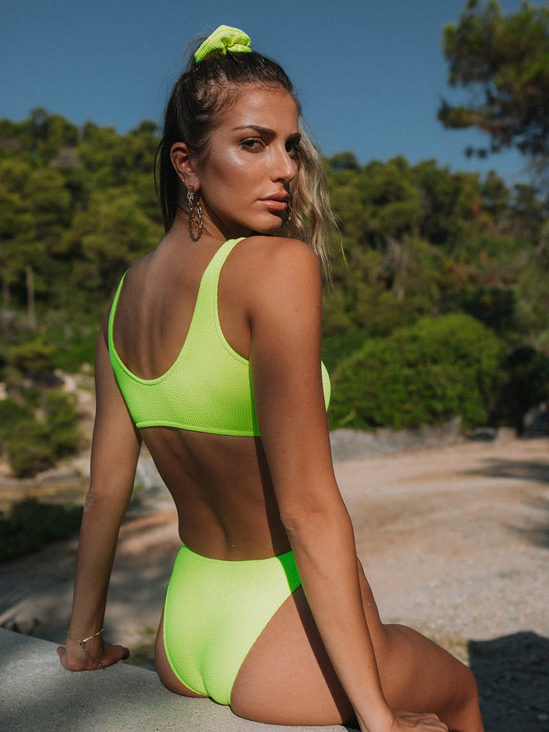 Two Piece Swimsuit EMILY In Neon Yellow