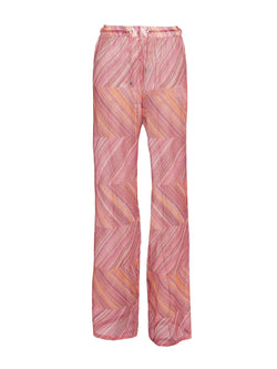 Pink Mesh Beach Trousers