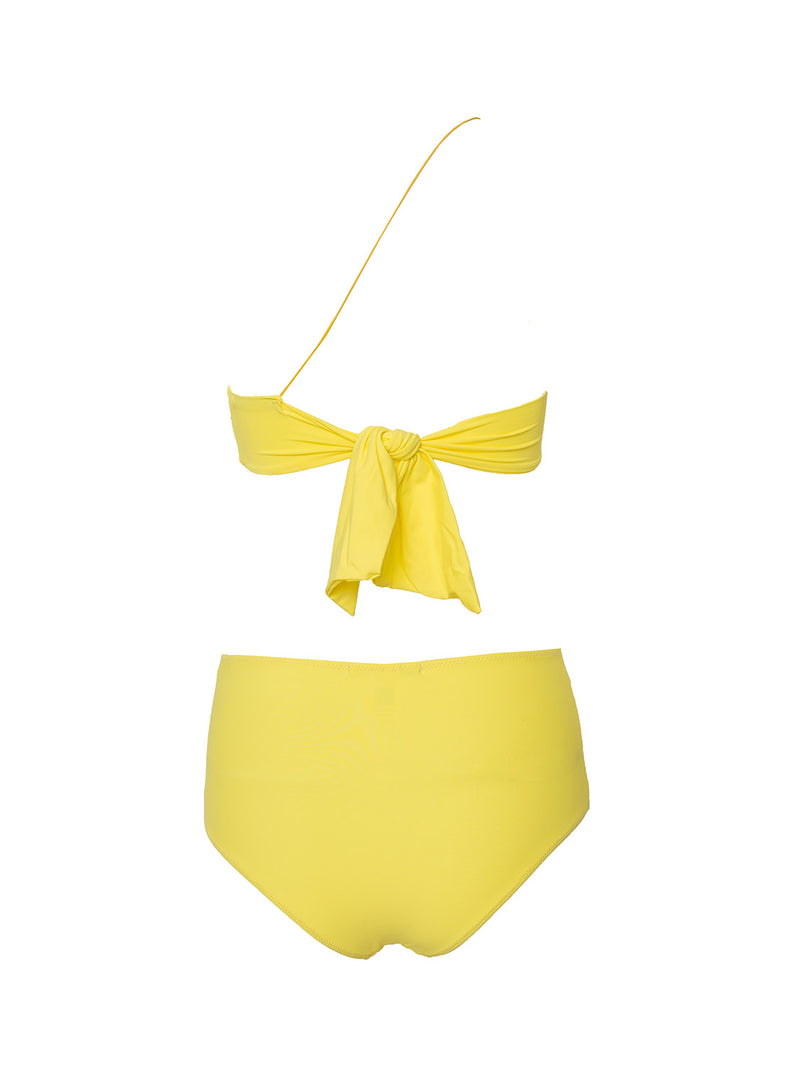 Two piece swimsuit in yellow