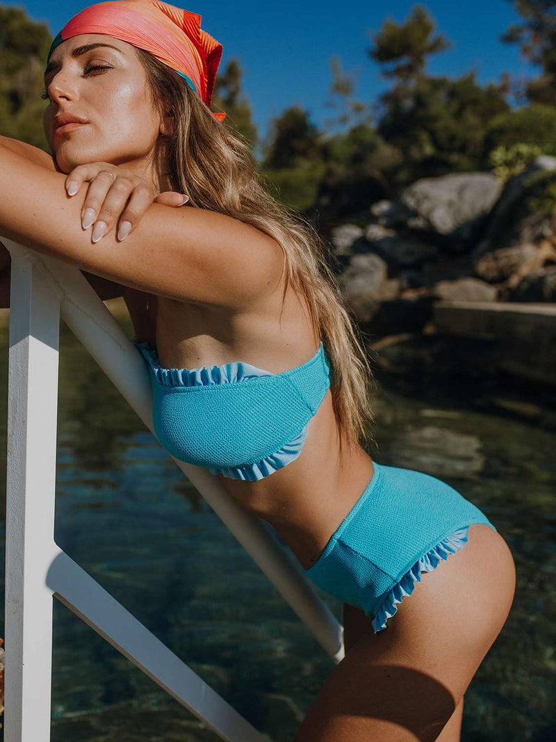 Two Piece Swimsuit KYLIE In Color Blue Gum