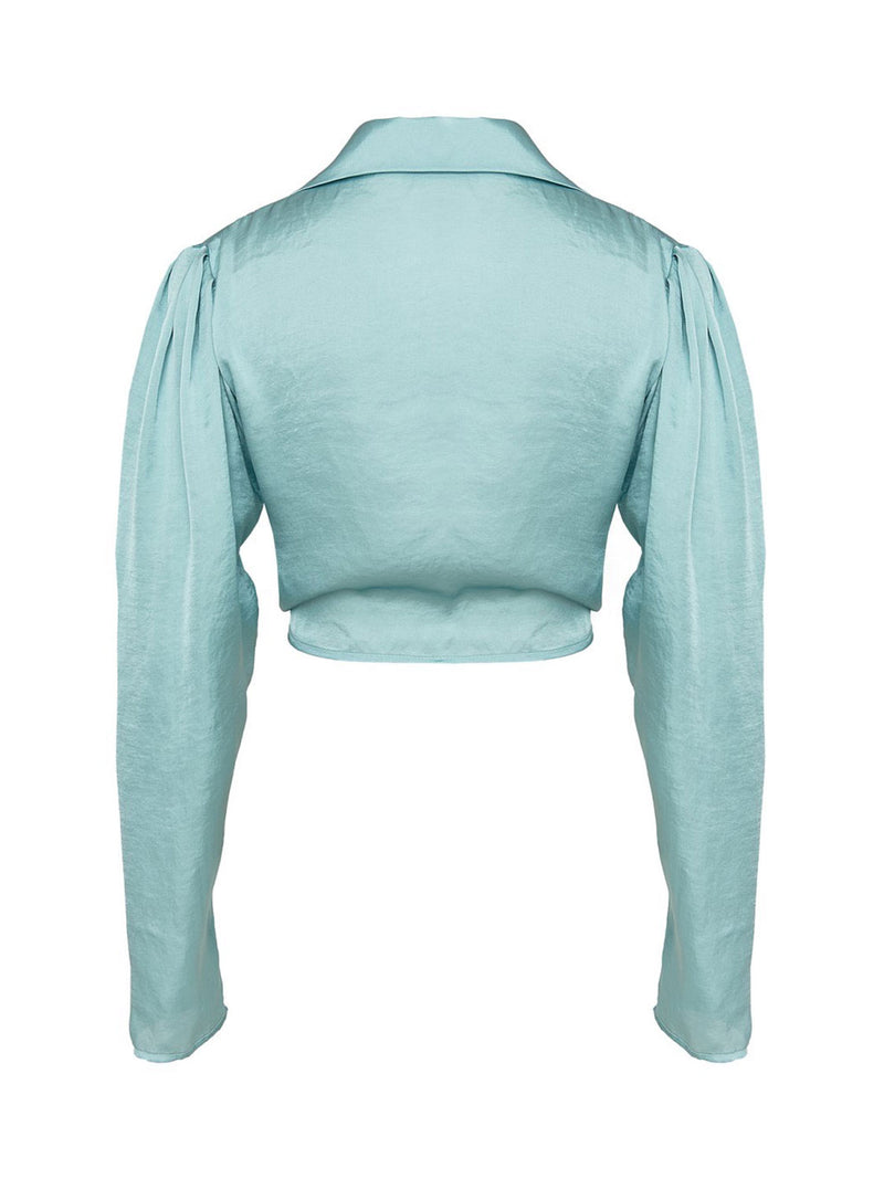 Beach Crop Top In Mint Color