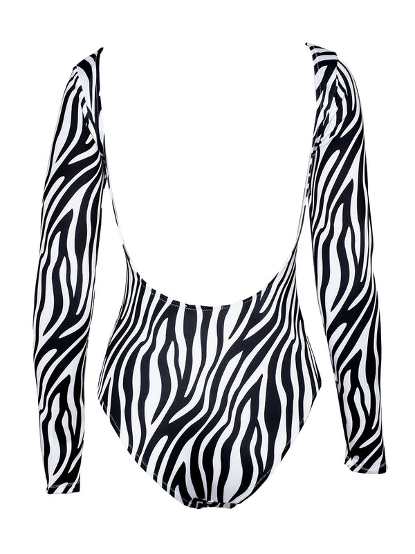 Black And White Bodysuit AMINA