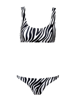 Two piece swimsuit KAMILA In Black And White