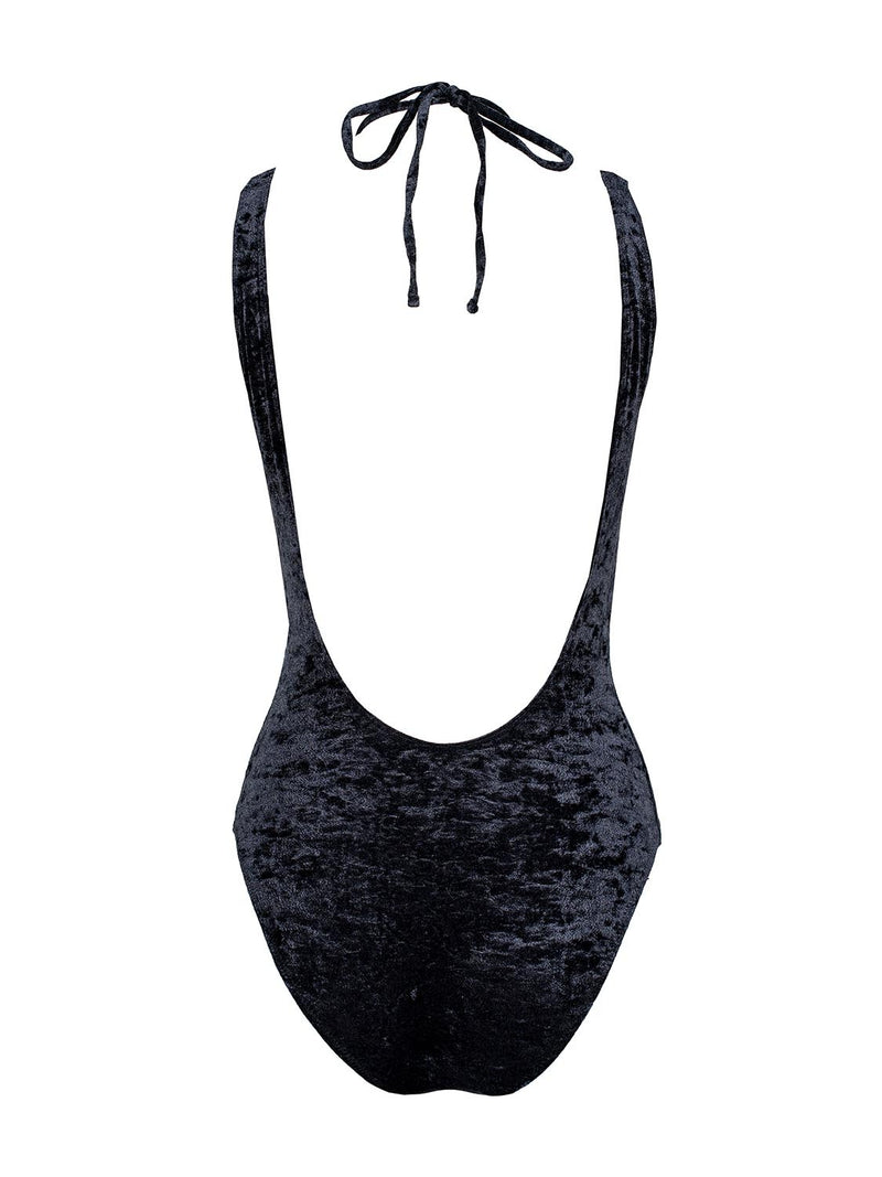 black one piece swimsuit