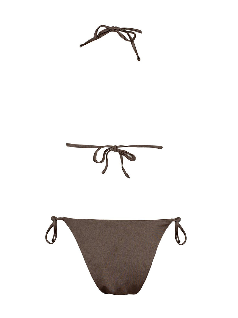 TWO PIECE SWIMSUIT KOURTNEY IN CHOCOLATE COLOR