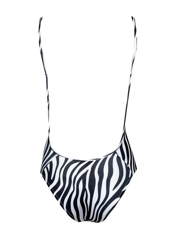 Black And White One Piece Swimsuit NINA