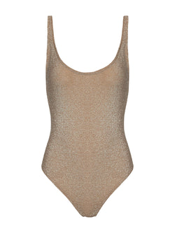 One Piece Swimsuit TAMARA in gold color