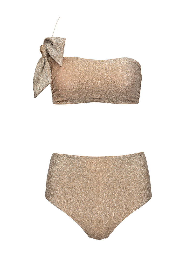 Two Piece Swimsuit GIORGIA In Gold Color