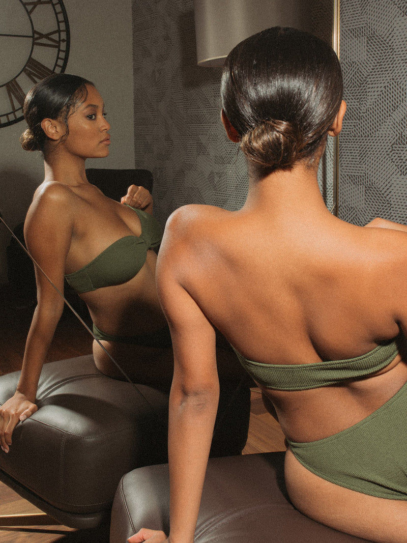 Two Pieces KIM In Olive Green Color