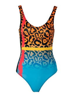 Leopard one piece swimsuit