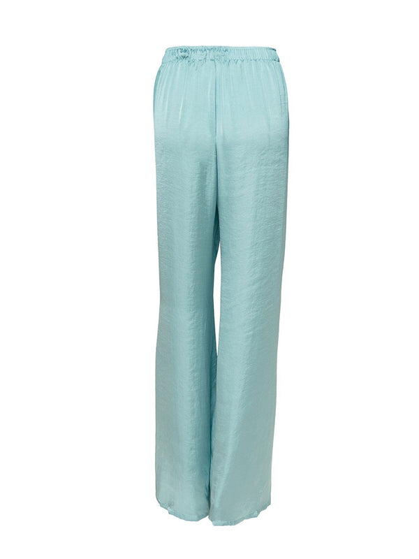Beach Trousers In Mint Color