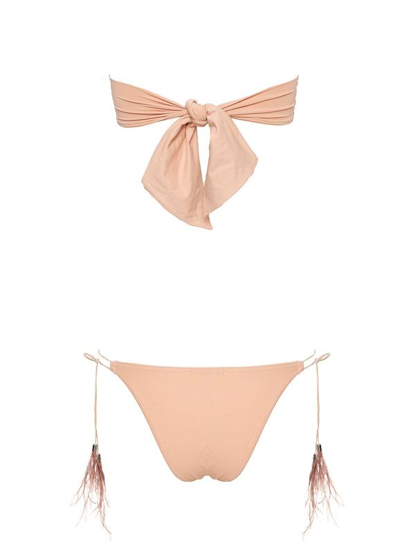 Nude two piece swimsuit
