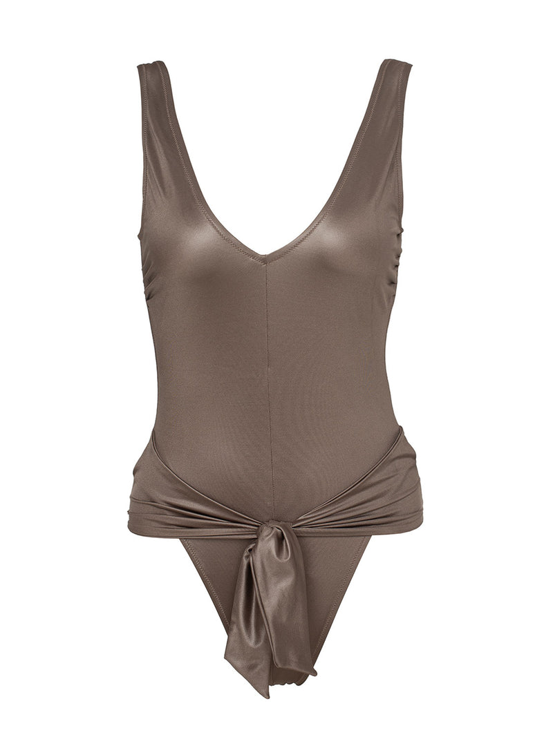 one piece swimsuit in beige