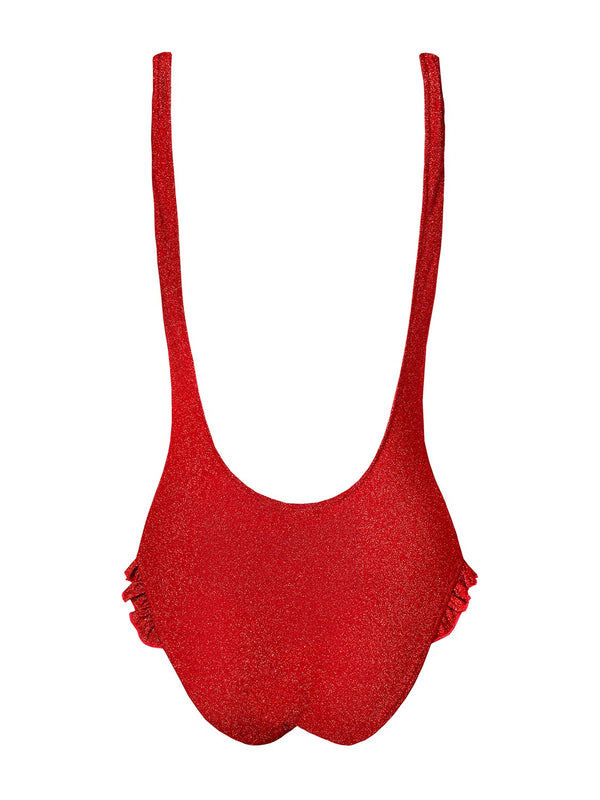 One Piece Swimsuit Tamara In Christmas Red Color