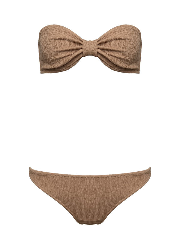Two Piece Swimsuit KIM In Caramel Color
